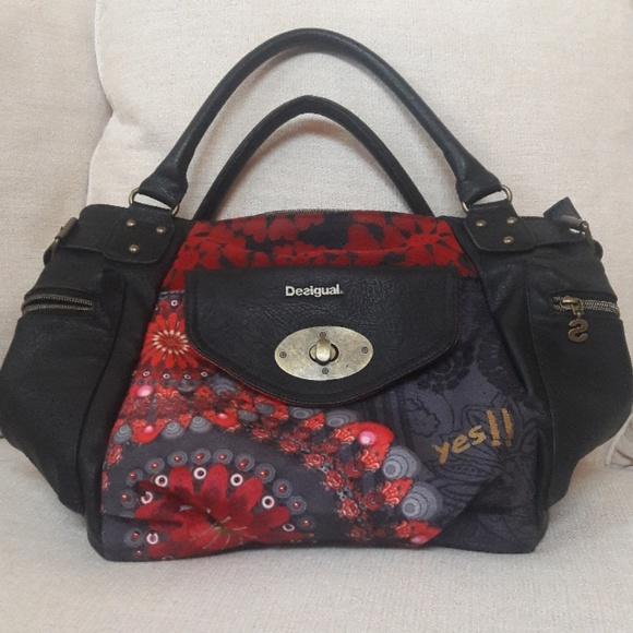 04175fb43 Desigual Handbags - Desigual leather handbag